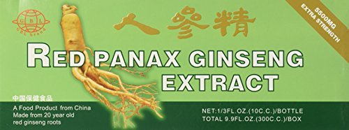 Global 20 Year Old Red Panax Ginseng Extract -Extra Strength- 10ml X 30 Bottles - Value Pack by GBL
