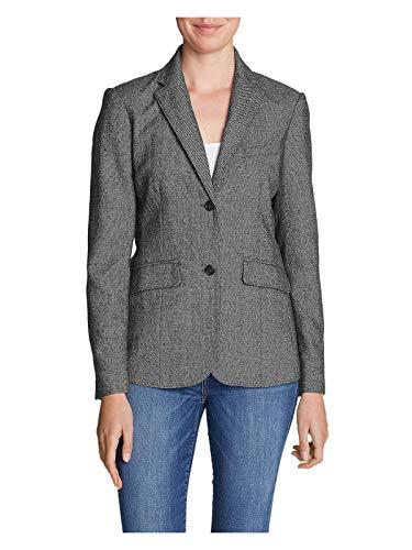 (Eddie Bauer Women's Classic Wool-Blend Blazer - Pattern, Stone Petite)