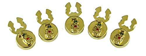 6030019 Set of 5 ROJ Royal Order of Jesters Button Covers Biliken Billiken Jester Tuxedo Suit (Set Jester)