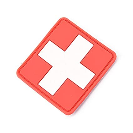 Rock & Pop Music Memorabilia New 3d Pvc Rubber Medic Paramedic Red Cross Flag Of Switzerland Swiss Cross Patch Backpack Tactical Army Morale Badge Patches