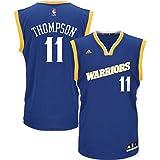 Klay Thompson Men's Blue Retro Golden State Warriors adidas Swingman Jersey 3X-Large