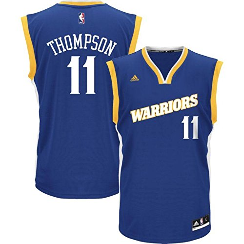 Klay Thompson Men's Blue Retro Golden State Warriors adidas Swingman Jersey Large by adidas