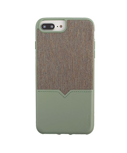 Evutec Northill Series Case Compatible with iPhone 6 Plus/6s Plus/7 Plus/8 Plus, [Northill Series] Premium Leather + TPU Shockproof Interior Slim Protective Case- Chroma/Sage with AFIX+ Vent Mount