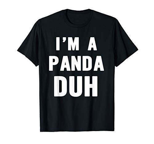 Easy Halloween Panda Costume Shirt for Men Women Kids]()