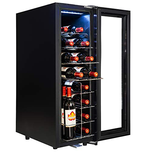 AKDY 21 Bottles Dual Zone Thermoelectric Freestanding Electric Wine Cooler...