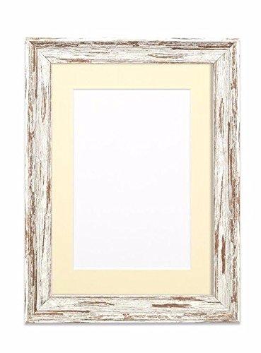 Mounted Vintage envejecido madera efecto/camuflaje marco de fotos/marco de fotos/Poster