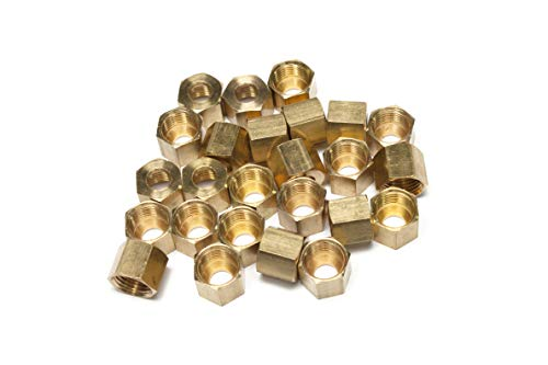 LTWFITTING1/4-Inch Brass Compression Nut,Brass Compression Fitting(Pack of - Nut Compression