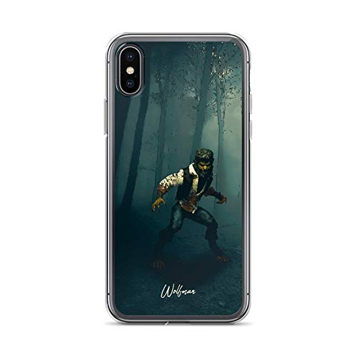 iPhone X/XS Case Anti-Scratch Motion Picture Transparent Cases Cover Wolfman Movies Video Film Crystal Clear -