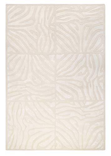 - CC Home Furnishings 5' x 8' Burchelli Zebra Chain Parchment Wool Area Throw Rug