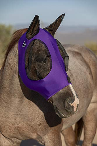 Professional's Choice Comfort Fit Lycra Horse Equine Fly Mask Mesh Ears (Horse, ()