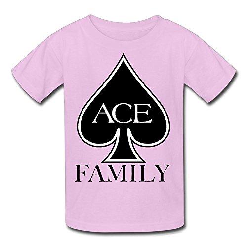 Ronald M. Richardson Youth Kids Summer Fashion Cool ACE Family Logo T-Shirt Short Sleeve Pink XS