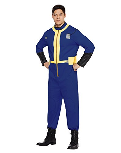 Spirit Halloween Adult Mens Vault Dweller Costume - Fallout,Blue,M 38-40