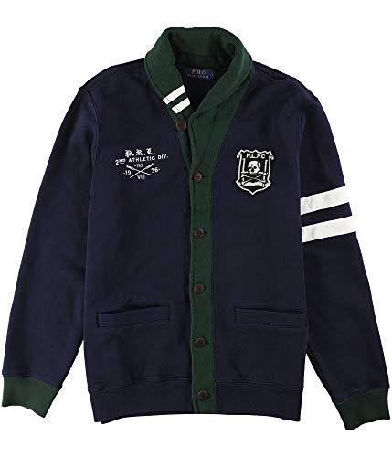 Ralph Lauren Polo Men's Shawl Cardigan Fleece Jacket Large L (Mens Polo Cardigan)