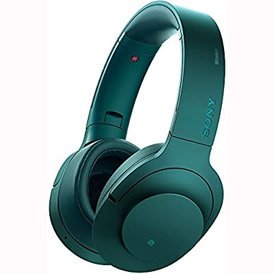 Sony H.ear on Wireless Noise Cancelling Headphone, Viridian Blue (MDR100ABN/L) w/ Xtreme 203511 Bluetooth 2-in-1 Wireless Audio Receiver