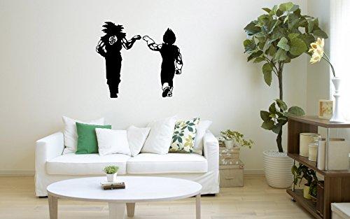 Dragon-Ball-Z-Fist-Bump-Fan-Art-22x-25-Anime-Cool-Art-Logo-Unique-Vinyl-Decor-Wall-Man-Cave-Garage-Window