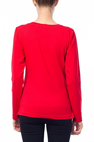 Verkauft von Mamimode - Camiseta - para mujer Rojo