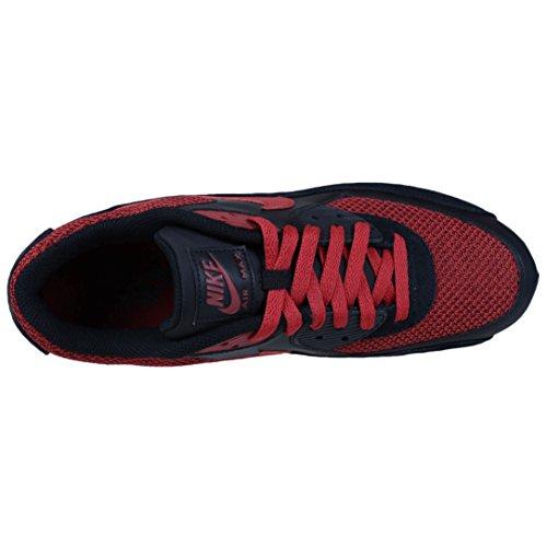 Nike Herren Air Max 90 Essential Laufschuh Schwarz / Tough Red / Wolfsgrau