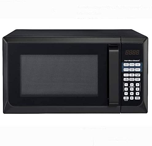 hamilton beach 0 9 cu ft stainless steel microwave oven black stainless steel