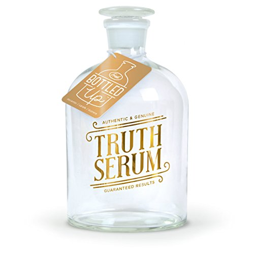 Fred BOTTLED UP Glass Spirits Decanter, Truth by Fred & Friends