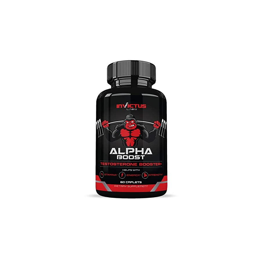 Extra Strength Testosterone Booster for Men (60 Caplets) | Natural Endurance, Stamina and Strength Booster | Build Muscle Fast | Performance and Recovery | Promotes Healthy Weight Loss and Fat Burning