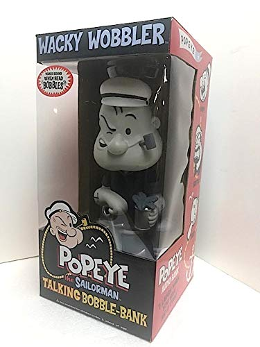 Popeye Talking Bobble Bank (Black and White) Rare