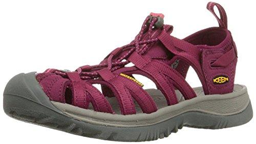 KEEN Women's Whisper Sandal, Beet Red/Honeysuckle, 35 B(M) EU/2.5 B(M) UK
