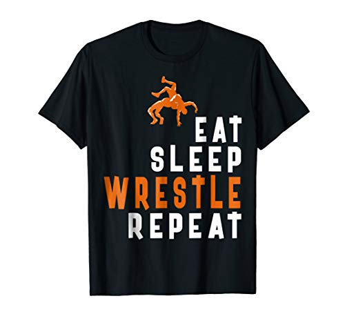 Eat Sleep Wrestle Repeat Tshirt For Wrestle Lovers Gift Tees
