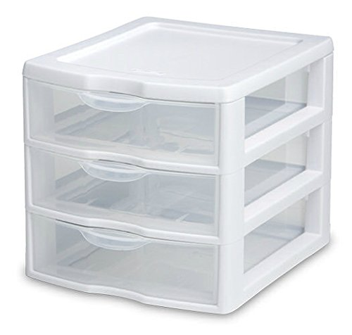 Organizer Mini 3 Drawer Wht Sm