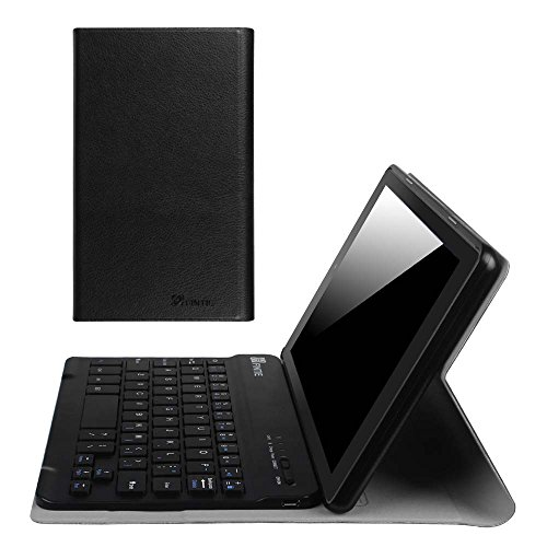 (Fintie Blade X1 Keyboard Case for Amazon Fire HD 8 (Previous Generation - 6th) 2016 Release, Slim Fit Slim Shell Light Weight Stand with Magnetically Detachable Wireless Bluetooth Keyboard, Black)