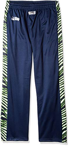 ZUBAZ Men's NFL Zebra Print Accent Team Logo Stadium Pants, XX-Large, Seattle Seahawks, Zebra Accent