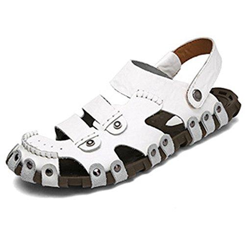 許さないネットデザート[タレークス] Talerk メンズサンダル スポーツサンダル ビーチサンダル アウトドア メンズ靴 本革 通気 2ways