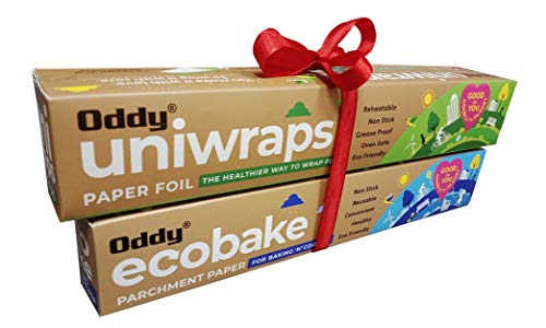 Oddy Uniwraps Food Wrapping Paper Foil 278MM x 20M, Combo Pack, Set of 2 Rolls