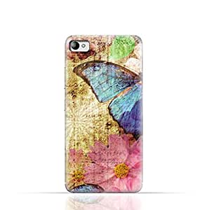Lenovo S90 Sisley TPU Silicone Case with Vintage Butterfly Pattern