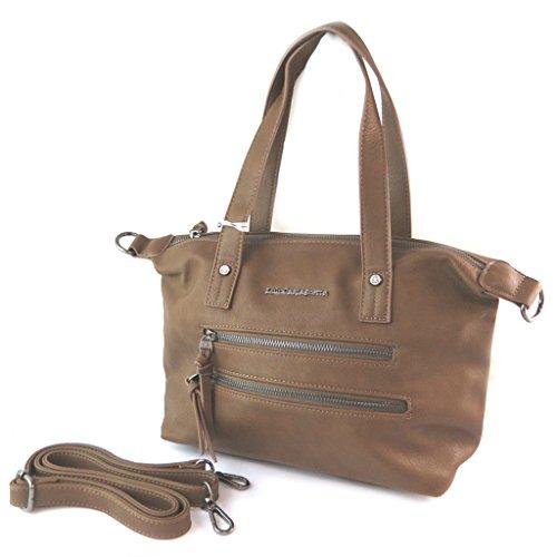 Bag designer Lulu Castagnettemarrone tabacco - 40x23x15 cm.