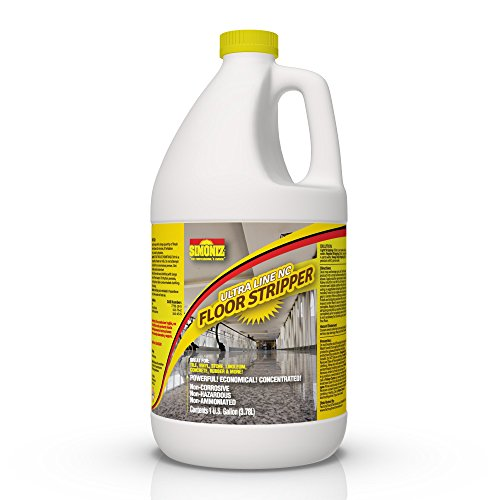 Vinyl Wax Floor - Ultimate Floor Finish & Wax Stripper Remover Non Corrosive Concentrated - 1 Gallon