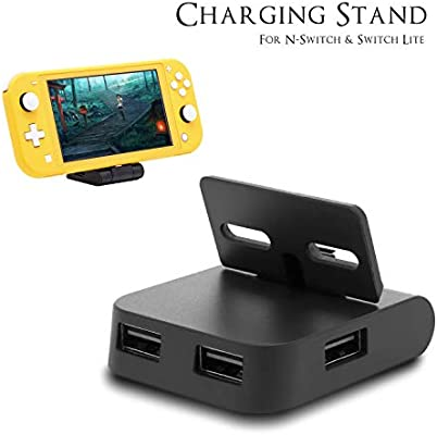 Base de Carga para Nintendo Switch Lite, Mini estación de Carga portátil para Nintendo Switch con USB HUB: Amazon.es: Electrónica