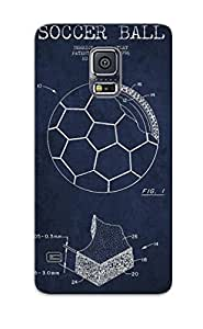 Galaxy S5 Case Cover Soccer Ball Patent Drawing From 1996 Navy Blue Case - Eco-friendly Packaging