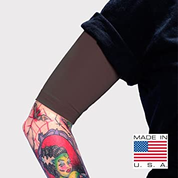Tattoo Cover Up Arm Sleeves 4 Pack Black For Men Women Compression Sleeve Protective Gear Sporting Goods Team Sports