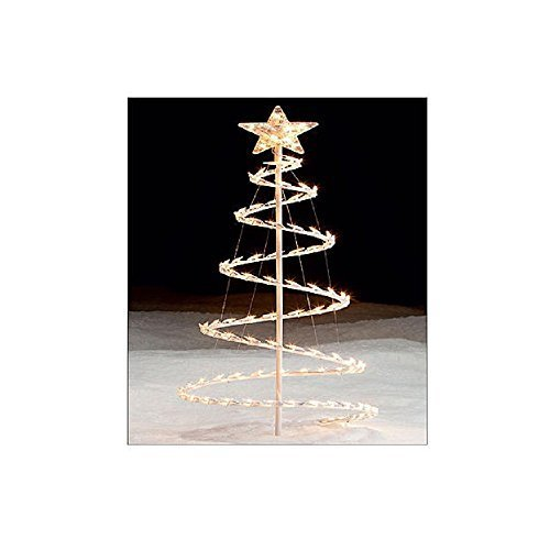 Outdoor Lighted Spiral Trees - 1