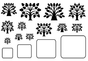 Cool Tools - Jewel Stamps - Tree of Life - Rectangle