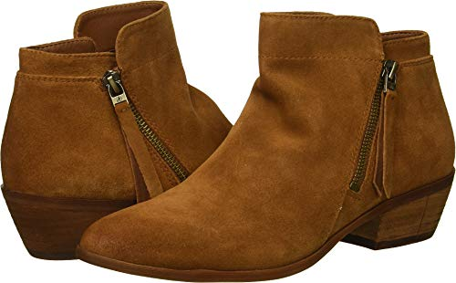 Sam Edelman Women's Packer Ankle Boot Luggage Velutto Suede Leather