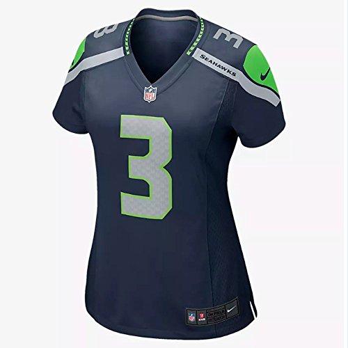 Amazon.com   Nike Women s Seattle Seahawks Russell Wilson College Navy Game  Jersey (Medium e377fd564