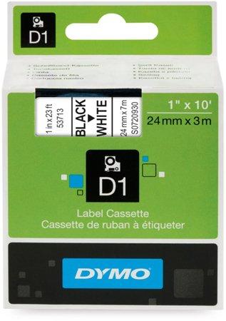 DYMO S0720930 - D1 Tape 24mm Black on white Dymo-CoStar Corp