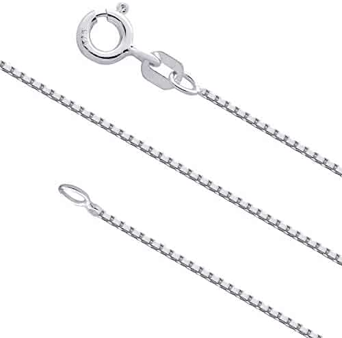 River Island Sterling Silver 1 mm Cable Chain Size 14-36