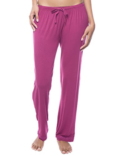 (Noble Mount Twin Boat Women's Breezy Night Knit Lounge Pant - Rose - M)
