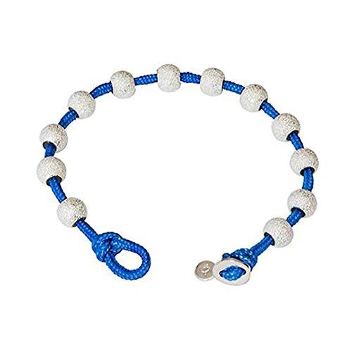 Golf Goddess Stroke/Score Counter Cord Bracelet - Bright Sky Blue with Silver