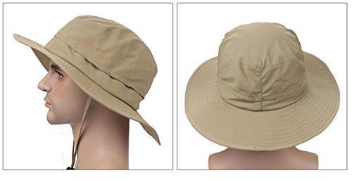 acbd5947f6f70d ISEYMI Wide Brim Caps Sun Block Collapsible Hats Fishing/Golf Hat ...