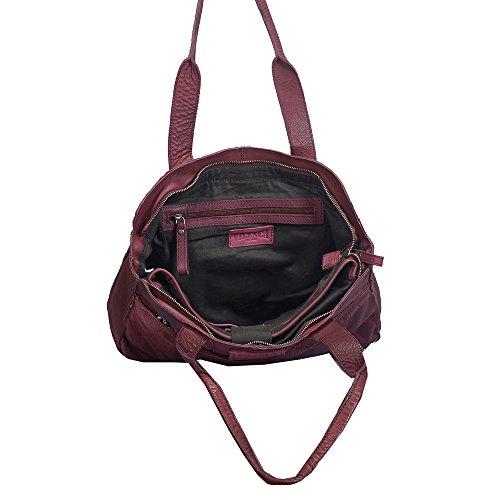 """Vilenca """"40711 Framboise"""" Mesdames sac pour ordinateur portable, sac à bandoulière (L38cmxH25cmxB10cm) ..."""