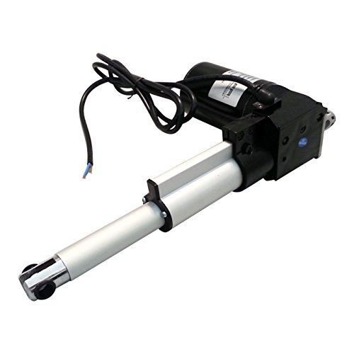 "Firgelli Automations FA-400-L-12-18  Heavy Duty Linear Actuator, 400 lb. Force, 18"" Stroke Length, 24.88"" Length"