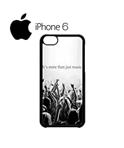 It's More Than Just Music Swag Mobile Phone Case Back Cover for iPhone 6 Black